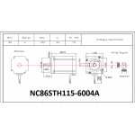 NEMA 34 Stepper Motor 8.5N.m 1200oZ - Keyway