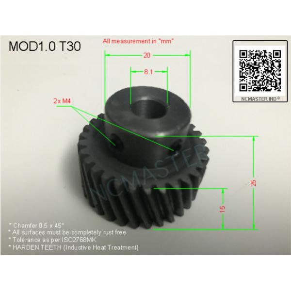 Helical Pinion Mod 1.0 T30 with 2xM4 x Ø8.1