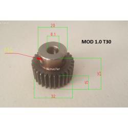 Spur Pinion MOD 1.0 30T with Ø8.1 I.D Hole