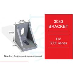 Bracket Gusset EU 3030 Aluminium Profile - 10 PCS